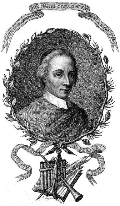 Ritratto di Giovan Mario Crescimbeni, incisione di Louis Legoux (New York Public Library's Digital Library)