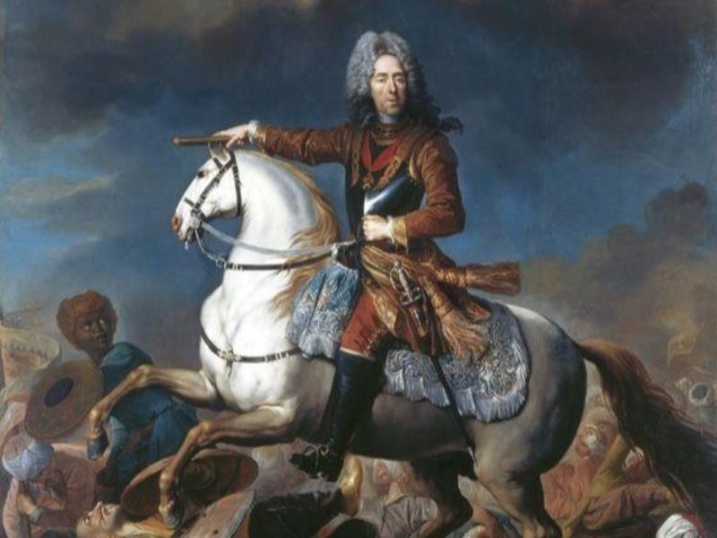 Jacob Van Schuppen, Ritratto equestre del principe Eugenio (1718), olio su tela, Torino, Galleria Sabauda