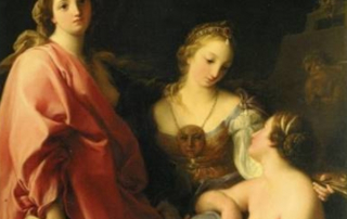 Pompeo Girolamo Batoni, Pittura, Scultura e Architettura, 1740, olio su tela, Rivoli, Collezione Fondazione Francesco Federico Cerruti per l'Arte