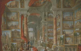 Giovanni Paolo Panini, Galleria immaginaria di vedute di Roma antica, 1757, olio su tela, New York, The Metropolitan Museum of Art