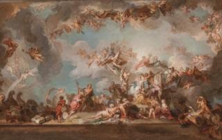 F. Lemoyne, Allegoria del Commercio e del Buon Governo, 1719-1720, Parigi, Musee des Arts Decoratifs