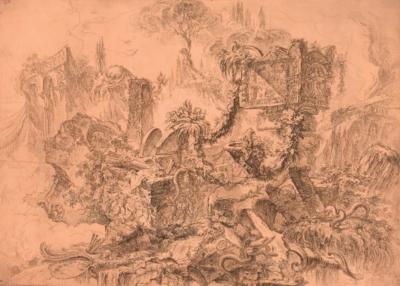 G. Piranesi, La tomba di Nerone (Grotteschi, tav. 4), 1747-1749, Roma, Istituto Nazionale per la Grafica