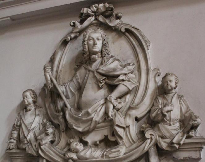 Domenico Antonio Vaccaro, Francesco Pagano, Monumento di Ettore Carafa della Spina. Napoli, San Domenico Maggiore